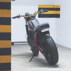 #badass girl Yamaha TW 125 build by Andrzej Osuchowski.  Greetings from Poland !