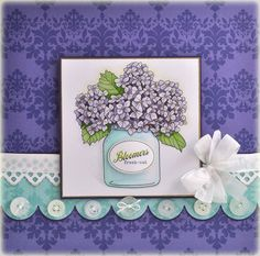 Papertreyink Summer Jar Fillers - by Debbie Olson Hand Made Greeting Cards, Making Greeting Cards, Card Making Inspiration, Making Ideas, Mason Jar Cards, Mason Jars, Mothers Day Cards, Cards For Friends, Copics