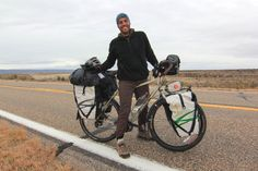 I ran into Andre from http://www.planetapedal.com.br/ today. He's in the middle of riding his bicycle from Alaska to his home country of Brazil. I spotted him today while he was riding north from the Grand Canyon (North Rim) to Bryce Canyon National Park. After he has visited Bryce Canyon he will turn around and head south toward warmer weather in California and Mexico. Really nice guy! It seemed like he was having a great time out there on his bike. www.bicycletouringpro.com