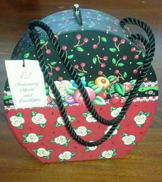 Mary engelbreit cherries and flowers stationary set  They always hike up the shipping...too much!