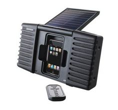solar charged sound system for iPhone