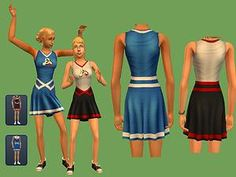Mod The Sims - Cheerleader Outfit - default replacement