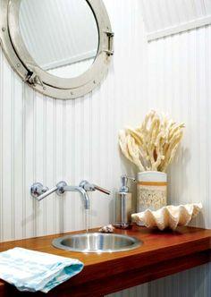 Porthole Mirror for my nautical-themed bathroom!