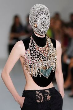Crystal face mask? Jeweled Face Masks Steal The Show At Margiela
