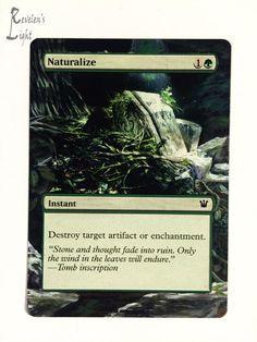 Naturalize - Full Art - MTG Alter - Revelen's Light Altered Art Magic Card