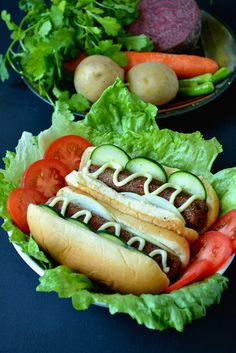 Veggie Dog - VEGAN Hot Dog. This vegetarian version of the classic Hot dog is healthier, more flavourful, mildly spiced & delicious!