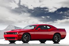 With the Dodge Challenger sometimes overshadowed by the muscle car war between the Chevy Camaro and Ford Mustang, the all-new 2015 Challenger SRT Hellcat hits the highways as Dodge's most powerful muscle car ever. Dodge Charger Srt, Charger Srt Hellcat, 2016 Dodge Challenger Hellcat, Dodge Srt, Dodge Cummins, Jeep Dodge, Dodge Trucks, Doge Challenger, 2018 Dodge