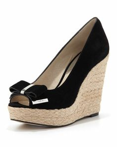 Meg Suede Bow Wedge Sandal by MICHAEL Michael Kors at Neiman Marcus.