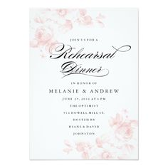 Vintage floral | Rehearsal Dinner Invitation