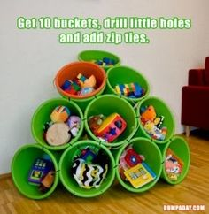 Full Time Frugal : DIY toy organization for under $15