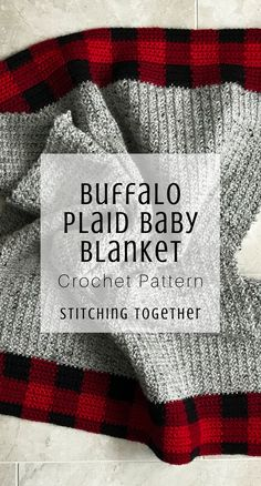 Who doesn't love buffalo plaid crochet patterns? This buffalo plaid baby blanket is just what you ne Baby Boy Crochet Blanket, Baby Boy Blankets, Baby Afghans, Crochet Blankets, Modern Crochet Blanket, Afghan Crochet Patterns, Baby Patterns, Plaid Crochet, Crochet For Boys