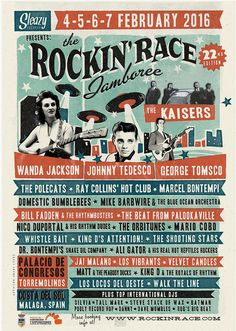 The 22nd Rockin' Race Jamboree 4-5-6-7 February 2016 Torremolinos. Spain.