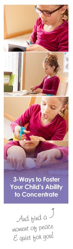 {Foster Your Child's Ability to Concentrate} *Based on the Montessori Method