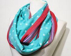 Polka Dot Scarf,Dotted Scarf,dot scarf,Multicolor infinity Scarf,Muliticolor Cowl Scarf,Multicolor chunky scarf,Multicolor Loop scarf,11061