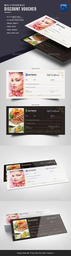 26 best gift voucher design images on pinterest gift voucher gift certificate yelopaper Gallery