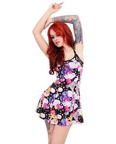 Liquor Brand Damen PEGASUS-strap Kleid.Oldschool,Tattoo,Pinup,Custom Style