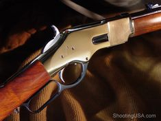 First the Model of 1866, nicknamed the Yellow Boy by the Indians. This one has a 20 inch barrel, but again Cimarron has options for you from a 24 inch sporting rifle down to the 16 inch