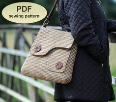 Sewing pattern to make the Saxted Green Satchel by charliesaunt