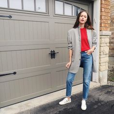 "4,759 Likes, 61 Comments - Valeria Lipovetsky (@valerialipovetsky) on Instagram: ""#ootd the garage series. Really into men's wear lately (hence stealing my husband's blazer). Diane…"""