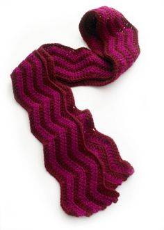 simple two color wave pattern scarf to crochet  chevron- would love it in grey+yellow