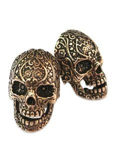 Sugar Skull Cufflinks/ Good low key accessory