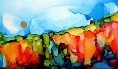 Art & Potatoes: Alcohol Inks on Yupo Paper