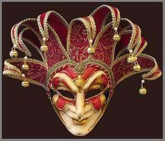 Joker by Blue Moon Mask Venetian Masquerade Masks, Venetian Carnival Masks, Carnival Of Venice, Masquarade Mask, Jester Tattoo, Estilo Dark, Costume Venitien, Steampunk Mask, Venice Mask