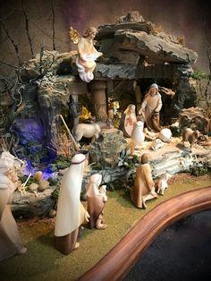 The Francis Nativity — Navidad Nativities, Inc. Christmas Crib Ideas, Church Christmas Decorations, Christmas Village Display, Christmas Nativity Scene, Christmas Scenes, Christmas Villages, Christmas Bells, Christmas Diy, Mexican Christmas Traditions