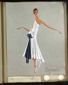 Robe Orphée, Paris 1929, copyright Patrimoine Lanvin #JeanneLanvin #Lanvin