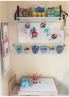 toddler friendly art stations....I guess I'm making a trip to check out the new Ikea