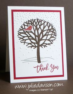 Thoughtful Branches: Winter Thank You Card (Julie's Stamping Spot)