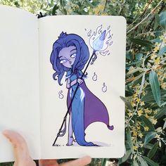 Годы идут, а я все еще рисую синих эльфов (хотя мейн в шош уже давно гоблин)