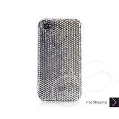 Classic Bling Swarovski Crystal iPhone 5 Case - Black Diamond