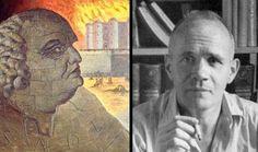 A gauche, le Marquis de Sade, portrait imaginaire de Man Ray. A droite, Jean Genet en 1950.