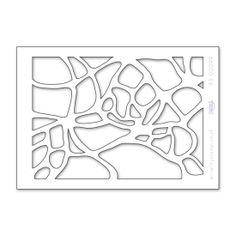 stencil companies | Claritystamp Ltd A5 Net 1 Pattern Stencil