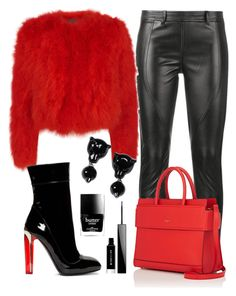 """""""Out the Pit of Fire"""" by perichaze on Polyvore featuring Faith Connexion, Alexander McQueen, Givenchy, Emporio Armani and Butter London"""