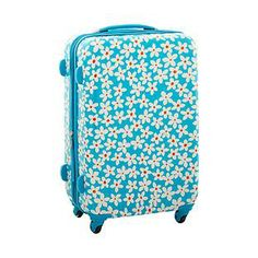"""Easy to spot on the conveyor belt... 26"""" Daisy 4-Wheeled Luggage. Cute, but it don't know that I would want a hard sided case after seeing so many cracked ones in airports!"""