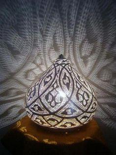 Moroccan Table Lamp - modern - Lamp Shades - E Kenoz Moroccan Table Lamp, Moroccan Lighting, Moroccan Lanterns, Moroccan Decor, Table Lamps, Moroccan Design, Moroccan Style, Rustic Lamps, Rustic Decor