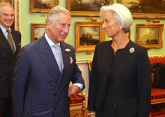 Prince Charles talks to Christine Lagarde, Managing Director of the International Monetary fund, before the start of the Inclusive Capitalism Conference at the Mansion House on May 27, 2014 in London
