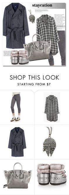 """""""Get the look"""" by vkmd on Polyvore featuring Brunello Cucinelli, Madewell, A.P.C., Ralph Lauren, Anja, Moon Boot and staycation"""