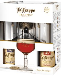 Looking for a big, bold Trappist beer experience? This gift pack includes four La Trappe beers and a branded glass, all wrapped up in a neat gift box. Curated Gift Boxes, Beer Gifts, Bottle Design, Corporate Gifts, Espresso Machine, South Africa, Packing, Drinks, Glass
