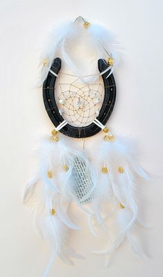 White Horseshoe Dreamcatcher with sparkly by OriginalsByCathy, $22.00