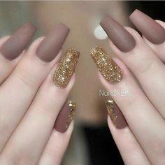 My Nails, Cute Nails, Beauty Nails, Matte Acrylic Nails, Acrylic Nail Shapes, Nail Trends, Nail Colors, Nail Art Designs, Glitter