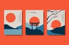 Minimalist Graphic Design, Japanese Graphic Design, Japanese Poster, Japanese Art, Shiba Inu, Chinese New Year Design, New Year Designs, Abstract Nature, Japanese Patterns