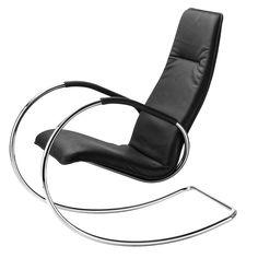 Rocking fabric armchair S826 - THONET