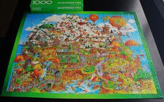 """""""Mountainside Park"""" by Springbok, 1979.  Featuring the unique style of artist Robert Martin, this puzzle celebrates leisure activities with a 70's flavor."""