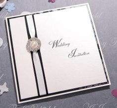 Pocketfold invitation. Also available as traditional invitation and in other colours from www.ajoytobehold.co.uk
