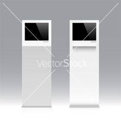 Information kiosk terminal stand vector