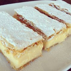.: Vanilla Custard Slice - I wish I had this right now with a cup of tea...