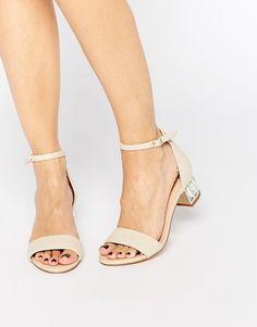 Dune+Marcee+Nude+Gem+Mid+Heeled+Sandals